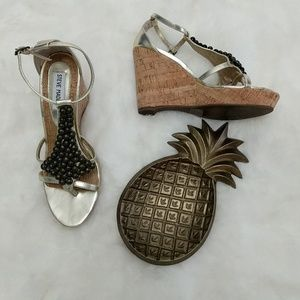 Steve Madden Beaded Cork Wedges